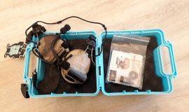 Z-TAC Kopfhörer mit Adapter für Helmschiene